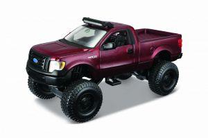 Auto Maisto - 4 x 4  Rebels - krabička - Ford F150 XL - vínová  barva