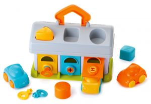 B-Kids  - sortér - garáž s autíčky 3 ks