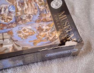 Clementoni Puzzle 1000 dílků Michelangelo, Poslední soud  39497- hodně poškozený obal !!