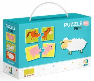 DoDo puzzle - 12 x 2 dílky -  Domácí zvířata