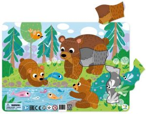 DoDo puzzle - rámkové 21 dílků -  Medvědí rodinka