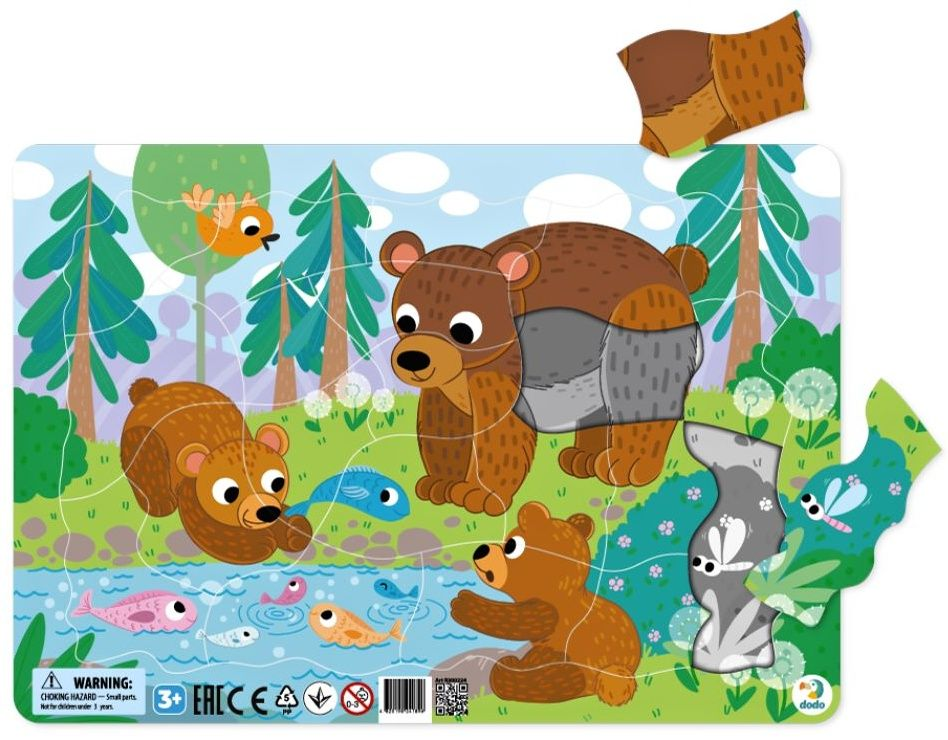 DoDo puzzle - rámkové 21 dílků - Medvědí rodinka LLC Toyz