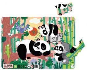 DoDo puzzle - rámkové 21 dílků -  Pandy
