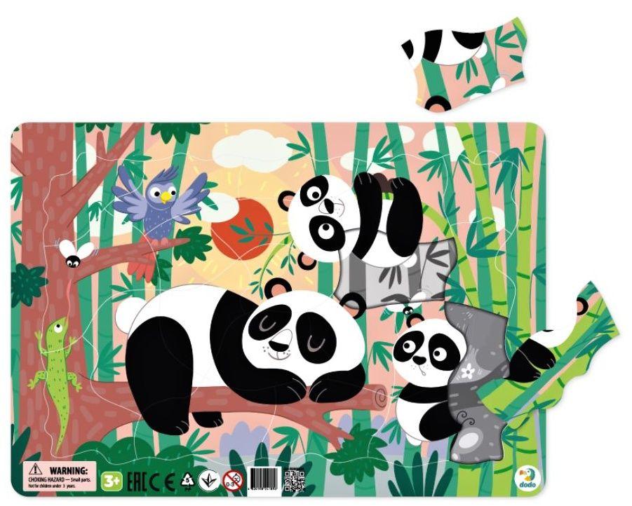 DoDo puzzle - rámkové 21 dílků - Pandy LLC Toyz