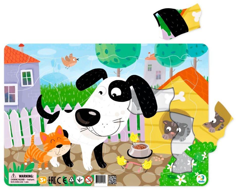 DoDo puzzle - rámkové 21 dílků - Štěně LLC Toyz