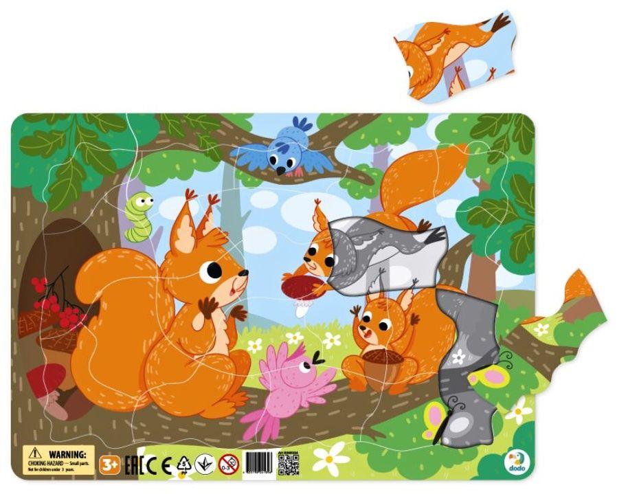 DoDo puzzle - rámkové 21 dílků - Veverky LLC Toyz