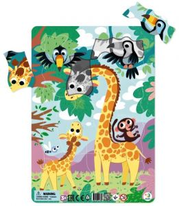 DoDo puzzle - rámkové 21 dílků -  Žirafy