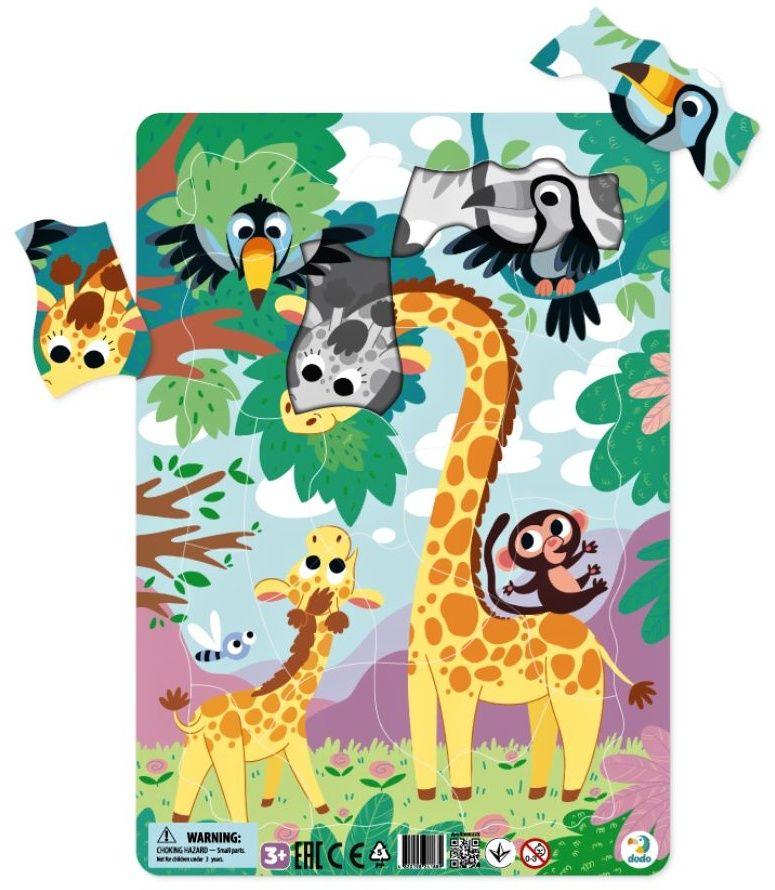 DoDo puzzle - rámkové 21 dílků - Žirafy LLC Toyz