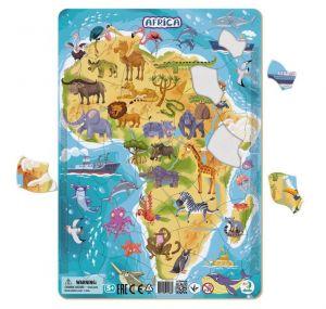 DoDo puzzle - rámkové 53 dílků - Afrika se zvířátky