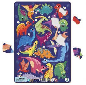 DoDo puzzle - rámkové 53 dílků -  Dinosauři