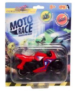 EPEE - Moto Race -  Crash na Max -   8,5 cm motorka - červená