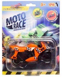 EPEE - Moto Race -  Crash na Max -   8,5 cm motorka - oranžová