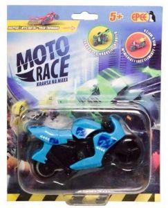 EPEE - Moto Race -  Crash na Max -   8,5 cm motorka - světle modrá