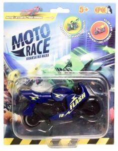 EPEE - Moto Race -  Crash na Max -   8,5 cm motorka - tmavě  modrá