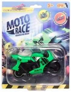 EPEE - Moto Race -  Crash na Max -   8,5 cm motorka - zelená