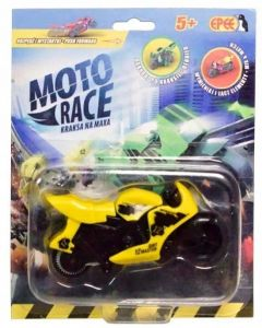 EPEE - Moto Race -  Crash na Max -   8,5 cm motorka - žlutá