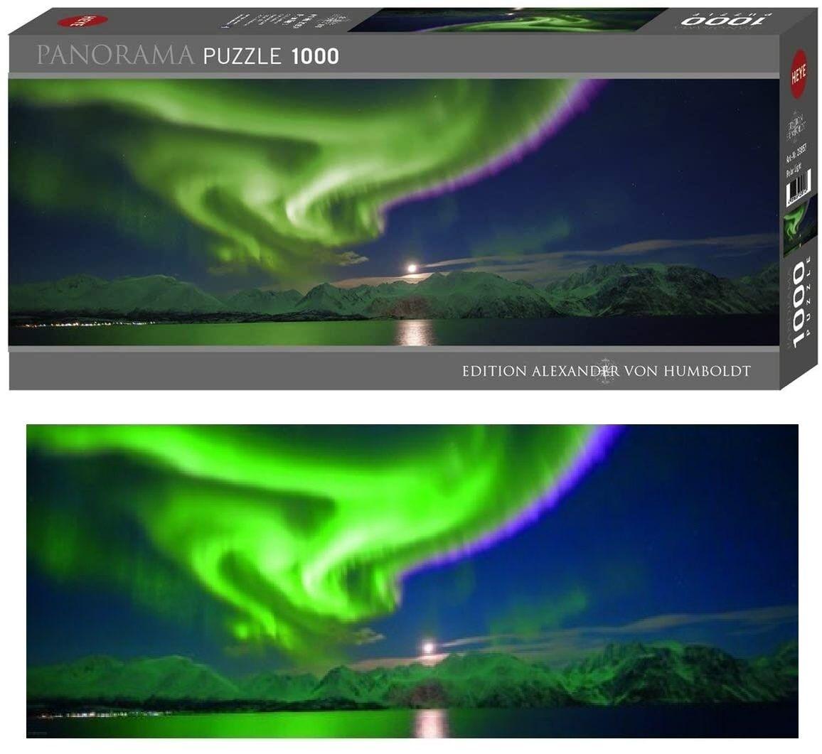 Heye - puzzle 1000 dílků panorama VON Humboldt - Polární záře 29857