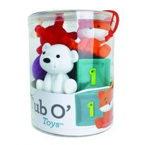 Infantino -   sada měkkých kostek a hraček v kyblíku  9 ks