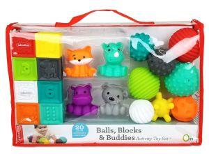 Infantino -  velká sada měkkých kostek a hraček 20 ks