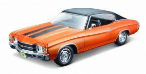 Maisto 1:18  Chevrolet Chevelle  SS 454  Sport Coupe  1971 -  oranžová barva