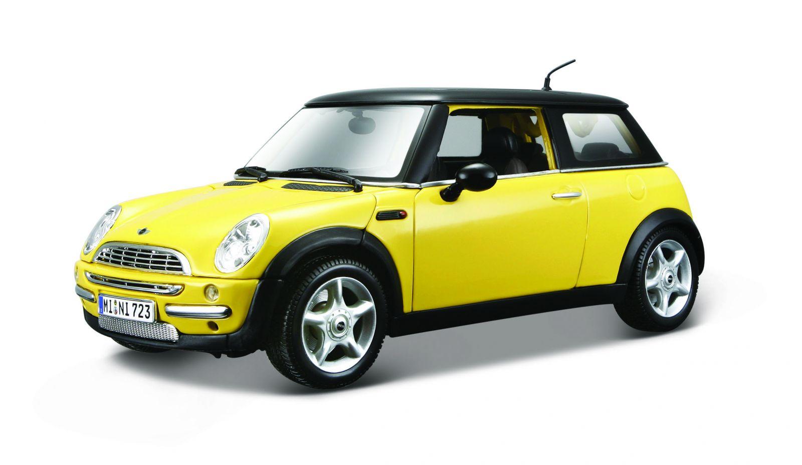 Maisto 1:18 Mini Cooper ( Sun Roof ) - žlutá barva
