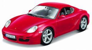 Maisto 1:18 Porsche Cayman S - červená barva