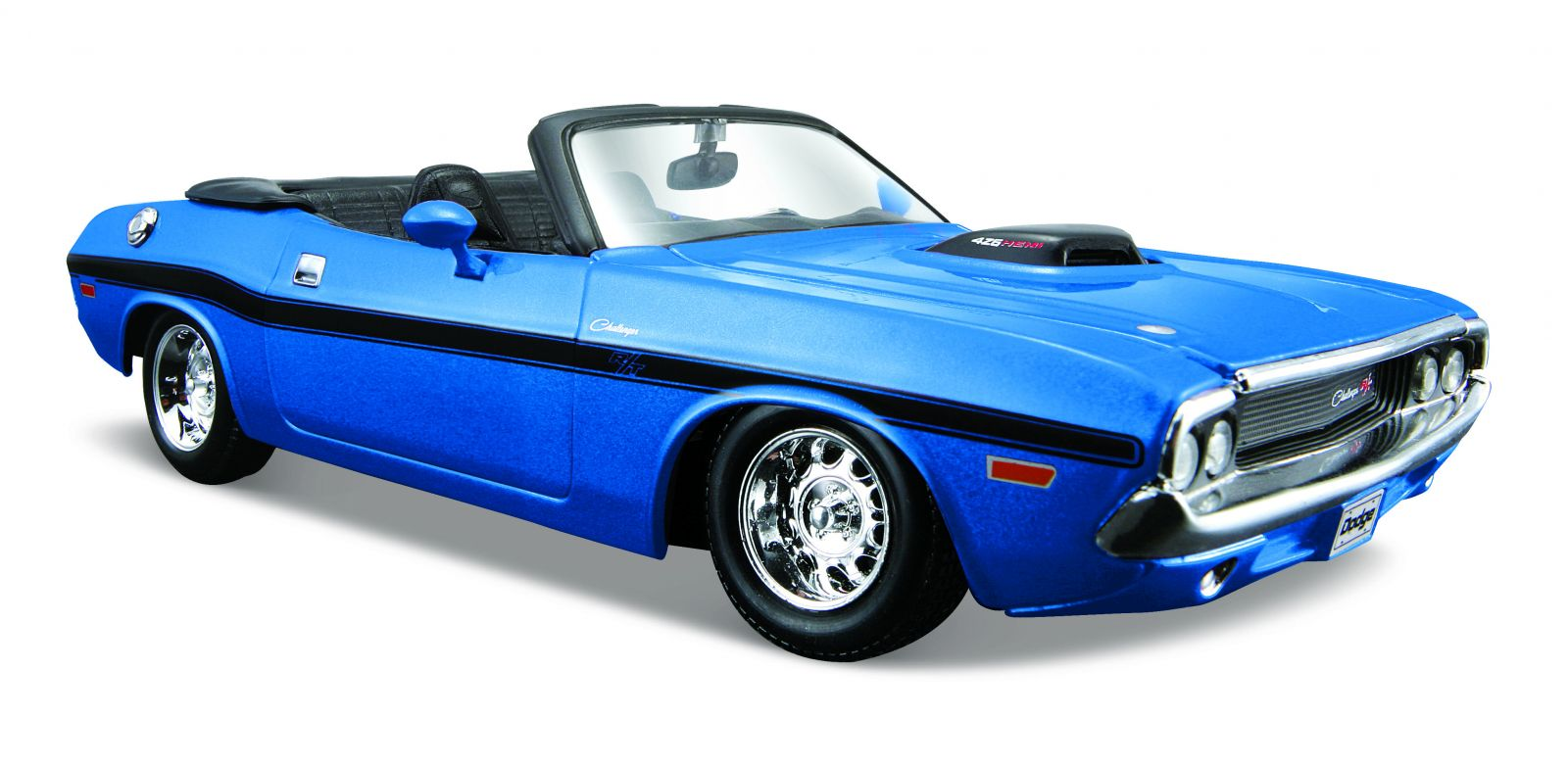 Maisto 1:24 Dodge Challenger R/T Convertible 1970 - modrá barva