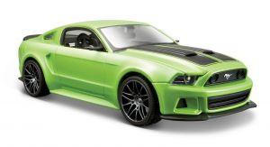 Maisto  1:24 Ford Mustang  Street Racer  2014 - zelená  barva