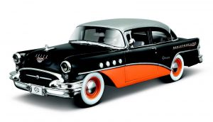 Maisto 1:24 HD - Buick Century 1955  - černo - oranžová barva