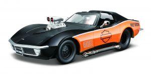 Maisto 1:24 HD - Corvette 1970 - černo - oranžová barva
