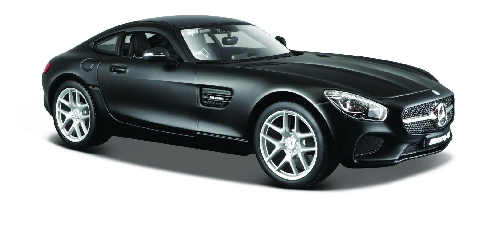 Maisto 1:24 Mercedes AMG GT - matná černá barva
