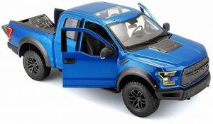 Maisto 1:24 SE Trucks - Ford  Raptor  2017 - modrá barva