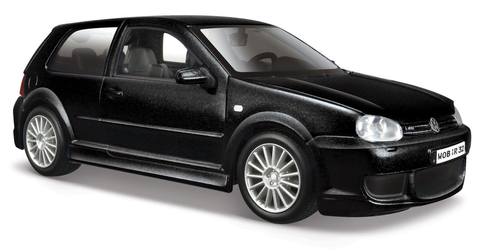 Maisto 1:24 Volkswagen Golf R32 31290 - černá barva