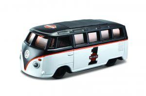 """Maisto 1:64 11380 HD  - Volkswagen Van """"Samba"""" - černo bílá  barva"""