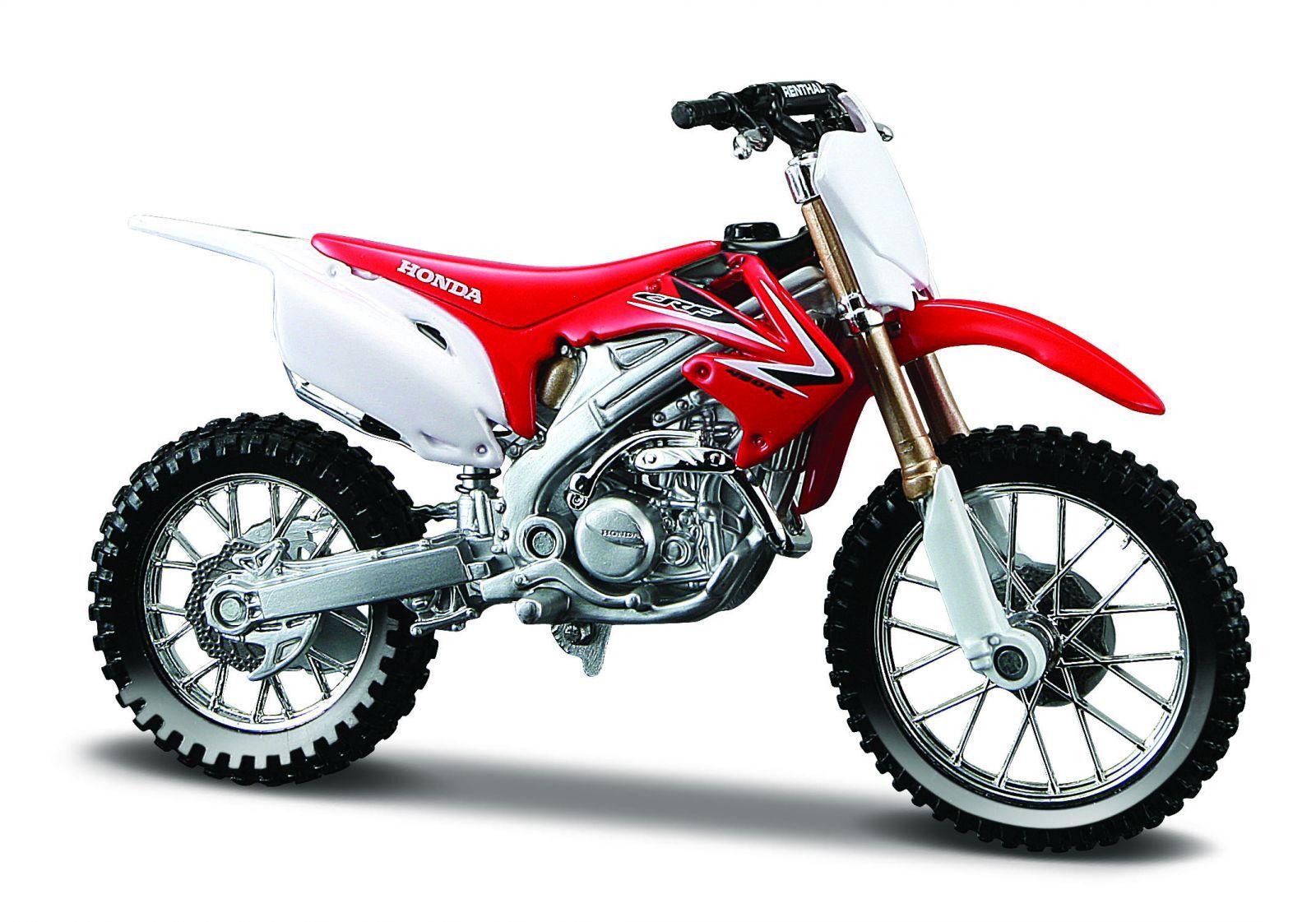 Maisto motorka bez podstavce - Honda CRF 450R 1:18 červená Miasto