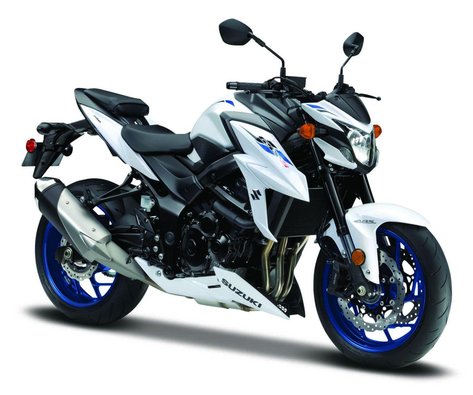 Maisto motorka bez podstavce - Suzuki GSX S750 ABS 1:18 bílá Miasto