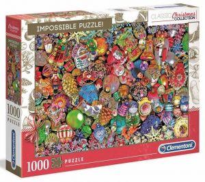 Puzzle Clementoni 1000 dílků - Nekoneční - Vánoční ozdoby 39585