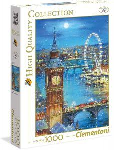 Puzzle Clementoni 1000 dílků  - Zasněžený Big Ben - Sváteční edice   39319