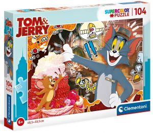 Puzzle Clementoni  - 104 dílků  -  Tom & Jerry   27516