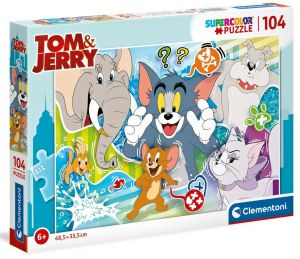 Puzzle Clementoni  - 104 dílků  -  Tom & Jerry   27518