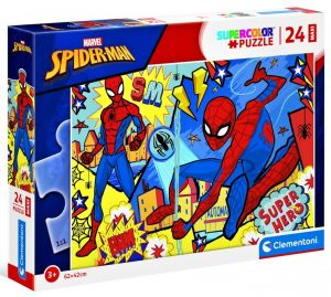 Puzzle Clementoni   24 dílků Maxi - Spiderman 24216