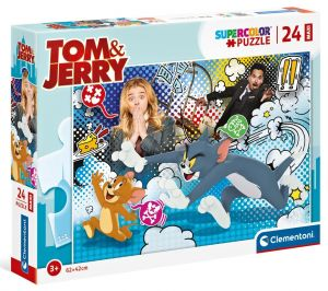 Puzzle Clementoni  MAXI  - 24 dílků  -  Tom & Jerry  24212