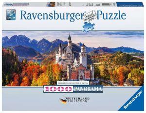 puzzle Ravensburger 1000 dílků  panorama - Zámek Neuschwanstein  151615