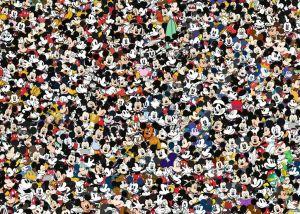 Puzzle Ravensburger 1000 dílků - Výzva - Mickey Mouse 167449