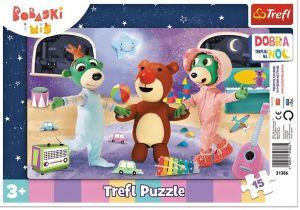 Puzzle Trefl v rámečku ( rámkové ) - Treflíci - dobrou noc 31386