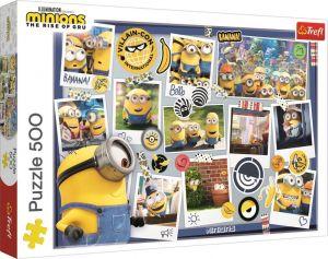 TREFL Puzzle  500 dílků -  Mimoni - šílená koláž fotografií  37390