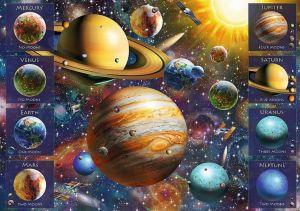 Trefl - Spiral Puzzle 1040 dílků - Planetární soustava 40013