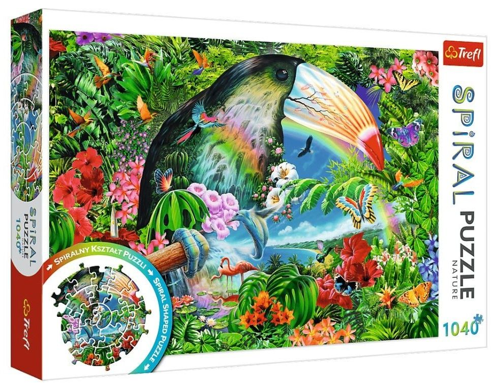 Trefl - Spiral Puzzle 1040 dílků - Tropická fauna a flóra 40014
