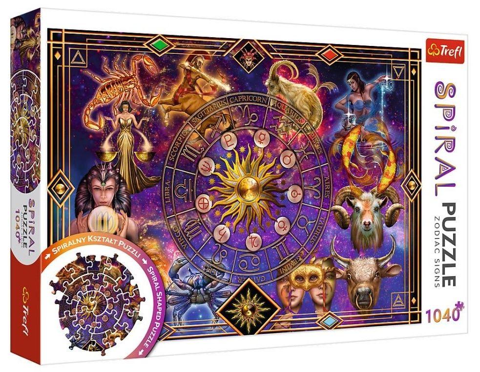 Trefl - Spiral Puzzle 1040 dílků - Znamení zvěrokruhu 40015