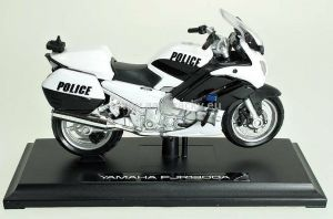 Maisto motorka 1:18 Yamaha FJR 1300A - Police  černobílá